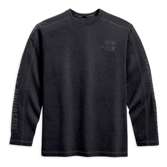 Long-Sleeve Tonal Bar&Shield Logo Tee
