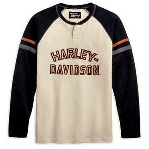 Long-Sleeve Raglan Henley
