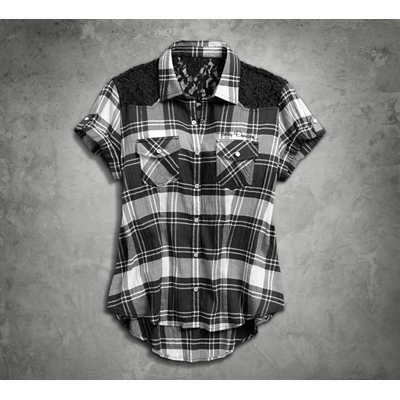 Downswept Wing Plaid Shirt
