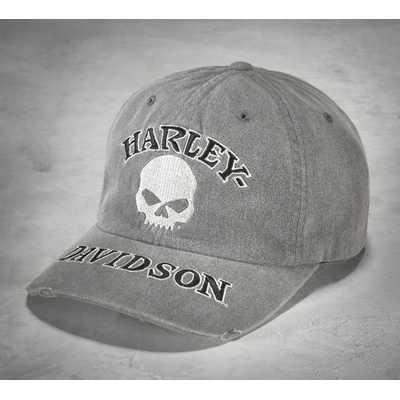 Grey Skull Washed Cap