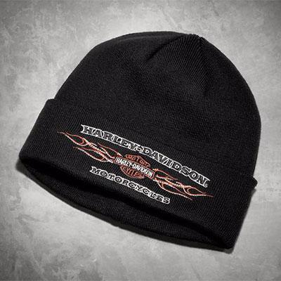 Flames Cuffed Knit Hat
