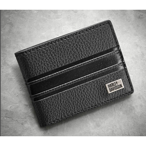 Embossed Stripe Bi-Fold Wallet