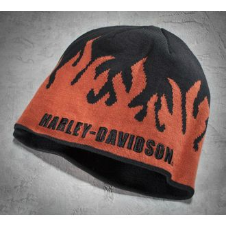 Flame Knit Hat black/orange