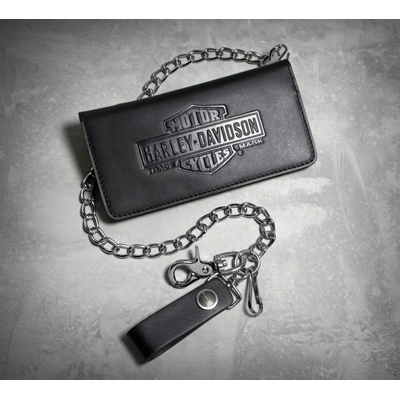 Vintage Bar & Shield Logo Biker Wallet