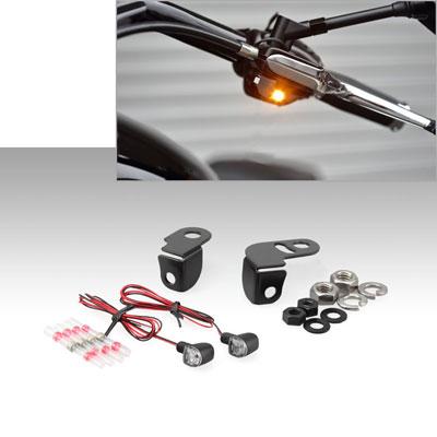 NANO シングル LED ウインカーランプ & ミラーボルトマウントステー SET