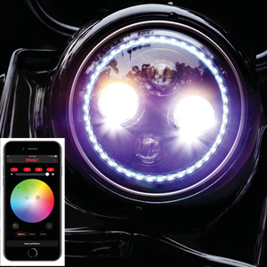 "Orbit PRISM+ 7""LEDヘッドライト Multi-Color Halo"