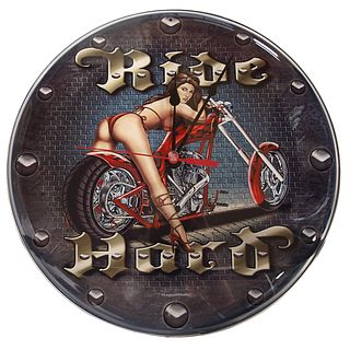 Lifestyle Wall Clock Ride Hard