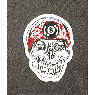 8Ball Skull Patch