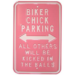 Steel Signs Biker Chick
