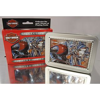 Harley-Davidson Tins with Playing Cards