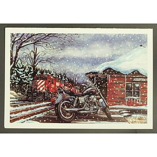 Harley-Davidson X'masCard TRAIN