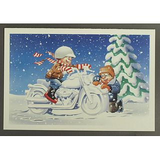 Harley-Davidson X'masCard SNOW MC