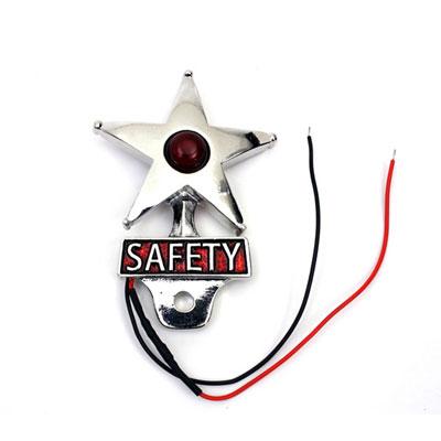 セーフティ ライセンスプレート トッパー LED リフレクター付